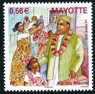 MAYOTTE 2010 - Yv. 232 **   Cote= 2,30 EUR - Cérémonie Karibu Maoré Bienvenue  ..Réf.AFA22719 - Mayotte (1892-2011)