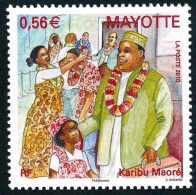 MAYOTTE 2010 - Yv. 232 **   Cote= 2,30 EUR - Cérémonie Karibu Maoré Bienvenue  ..Réf.AFA22719 - Ungebraucht