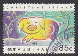 Christmas Island ASC 374 1995 Lunar New Year, Year Of The Pig 85c Pig Used - Christmas Island