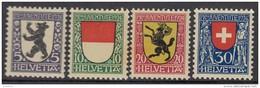 """SCHWEIZ 209-212 Postfrisch **, """"Pro Juventute"""" 1924, Wappen"""
