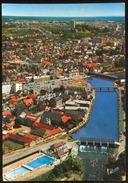 VIERZON (Cher) - 4.830 .- Vue Aérienne; La Piscina, Le Canal Du Berry Et Le Centre Ville - Vierzon