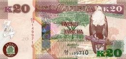 ZAMBIA 20 KWACHA 2012 (2013) P-52a UNC [ZM155a] - Sambia