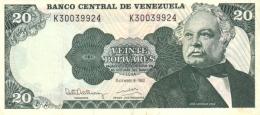 VENEZUELA 20 BOLIVARES 1992 P-63d UNC 8.12.1992 [ VE063d ] - Venezuela