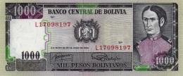 BOLIVIA 1000 PESOS BOLIVIANOS 1982 P-167b UNC SIGN. ROSSEL & GAUCHALLA [BO167 2 ] - Bolivia