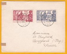 1939 - Enveloppe De Palimé, Togo Vers Roggwil, Suisse - Exposition Internationale New York - Cad  Transit Et Arrivée - 1939 Exposition Internationale De New-York