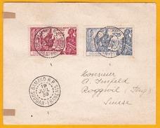 1939 - Enveloppe De Bamako, Soudan Français, Mali Vers Roggwil, Suisse - Exposition Internationale De  New York - 1939 Exposition Internationale De New-York