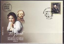SERBIA 2006 400th Birth Anniversary Of Rembrandt FDC