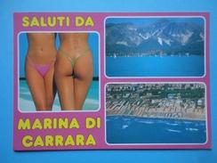 Saluti Da Marina Di Carrara - Massa Carrara - Pin Up - Vedutine - Mare, Spiaggia E Montagne - Carrara