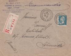 Y&T 181 Sur LR De STRASBOURG PL DE LA CATHEDRALE Du 12.2.27 Adressée à Thionville - Marcophilie (Lettres)