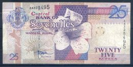 516-Seychelles Billet De 25 Rupees 1999 AA325 - Seychellen