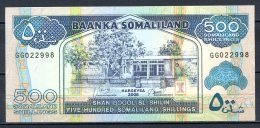 460-Somalie Billet De 500 Shillings 2008 GG022 Neuf - Somalie
