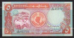 523-Soudan Billet De 5 Pounds 1991 D239 Neuf - Soudan