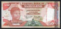 347-Swaziland Billet De 50 Emalangeni 2001 AA880 - Swaziland