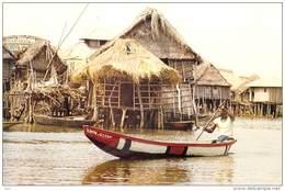 Afrique- (Bénin) DAHOMEY Cité Lacustre (pirogue) (Comité National De L´Enfance) *PRIX FIXE - Dahomey