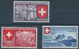 Switzerland 1939 Pro Juventute National Exhibition Inscribed German SG391G-393G  MNH Post Office Fresh
