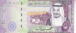 SAUDI ARABIA 5 RIYAL 2016 1438 P-38 KING SALMAN UNC NEW */* - Saudi Arabia