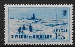 1938  Saint Pierre Et Miquelon  N° 183  Nf **. MNH .  Phare De La Tortue. - St.Pierre Et Miquelon