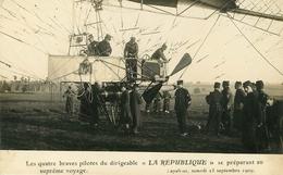 Lapalisse : Dirigeable République  Aviation Carte Photo - Lapalisse