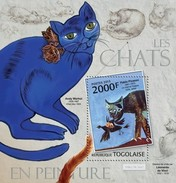 TOGO 2013 SHEET ARTE GATOS PINTURAS CATS ART PAINTINGS CHATS PEINTURES Tg13118b - Togo (1960-...)