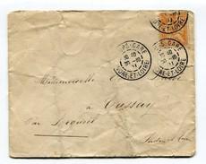 M26 :  TAD TOURS GARE 1901 SUR LETTRE MOUCHON ORANGE 15 C - Marcophilie (Lettres)