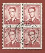Timbre Belge     Timbre N° 925 Bloc De 4 - 1953-1972 Glasses