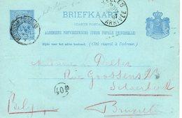 1897 BK G29 Met ROTTERDAM STn BEURS Naar Bruxelles - Postal Stationery