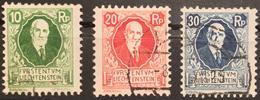 Fürst Johann 1925: Zu W1-3 Mi 72-74 Yv 72-74 Mit O VADUZ 8.X.25 (Zumstein CHF 60.00)