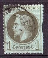 France - Napoléon III Lauré - N° 25 - Cachet à Date - Cote 25 - 1863-1870 Napoléon III. Laure