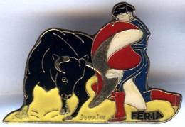 Pin´s CORRIDA TAUREAU - FERIA Signé JOUAIRE - Bullfight - Corrida