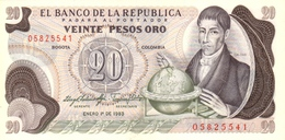 COLOMBIA 20 PESOS ORO 1983 P-409d UNC [CO409d] - Colombia