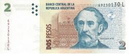 ARGENTINA 2 PESOS ND (2013) P-352a UNC SERIES L, SIGN: PONT & FELLNER [ AR352a6 ] - Argentina