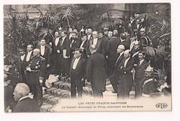 1907 Fêtes Franco-Danoises - Frédéric VIII, La Reine Louise à Paris: Le Conseil Municipal Attendant Les Souverains -ELD- - France