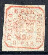 ROMANIA 1862 Eagle And Ox-head 6 Para Handstamp Printing On Ordinary Paper Unused (*)  Michel 9 I Xa. - 1858-1880 Moldavia & Principality