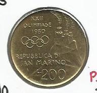 San Marino_1980_200 Liras - San Marino