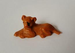 Figurine CLAIRET  - ANIMAUX - LIONCEAU COUCHE ZOO Pas Starlux Elastolin Ougen Jim Cyrnos - Starlux