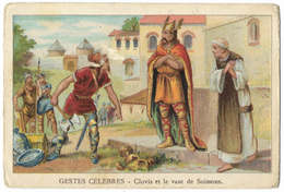 CHROMO Gestes Célèbres - Clovis Et Le Vase De Soissons - Ville De Lyon - Sonstige