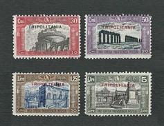 TRIPOLITANIA 1929 - Pro Opera Di Previdenza M.V.L.N - 4 Valori - MH - Sa IT-TP 50-53 - Tripolitania