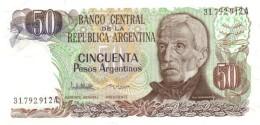 ARGENTINA 50 PESOS ARGENTINOS 1983 P-314a UNC SERIES A, SIGN: LOPEZ &  VAZQUEZ [ AR314a2 ] - Argentine