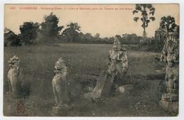 CAMBODGE--INDO-CHINE  FRANCAIS  KOMPONG CHAM  LIONS ET GARUDAS...    2  SCAN    (NUOVA) - Cambogia