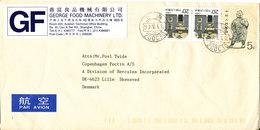 China Cover Sent To Denmark - 1949 - ... République Populaire