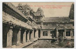 CAMBODGE--INDO-CHINE  FRANCAIS   ANGKOR-VAT  COLONNADE  DANS LA COUR N.O. DU 3me ETAGE      2  SCAN    (NUOVA) - Cambogia