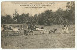 Voiturettes à Chiens , Porte-brancard ,transport Des Blessés , Utilisées Au Régiment De Montargis (82°) (45 -Loiret) - Non Classificati