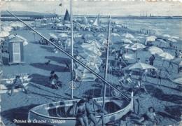 Cartolina Marina Di Carrara Spiaggia 1953 - Massa