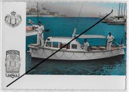 Cpsm Bon Etat , 10.5x15cm , Monaco , Carabiniers Du Prince , Canot De Sauvetage , Lire Explications Au Verso - Non Classés