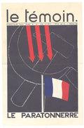 Le Témoin, Paul Iribe, N°21 29 Avril 1934, Le Paratonnerre, Caricatures, Squelette, Cassis De Dijon - Livres, BD, Revues