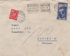 Brief Aus Italien 1951 In Die Schweiz, Perfin, Portomarke (br0573) - Segnatasse