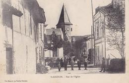 St-AIGULIN. - Rue De L'Eglise. Carte RARE - France