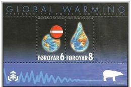 Faroer/Féroé/Faroe: Difesa Ghiacciai, Défense Des Glaciers, Defense Of Glaciers, Foglietto, Block, Bloc - Preservare Le Regioni Polari E Ghiacciai
