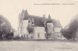 Environs De Lignières Sonneville  - Château Du Breuil. Carte Rare. - France