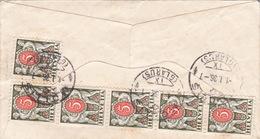 Brief Nach Mollis, Austaxiert (br0576) - Segnatasse